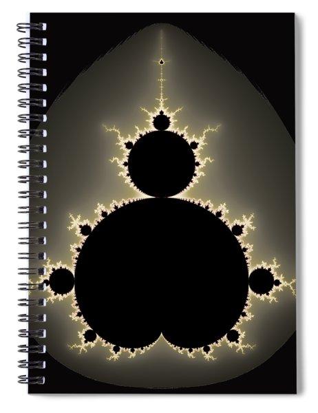 Mandelbrot Set Square Format Art Spiral Notebook