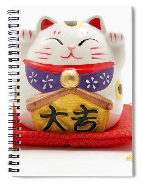 Maneki Neko Spiral Notebook