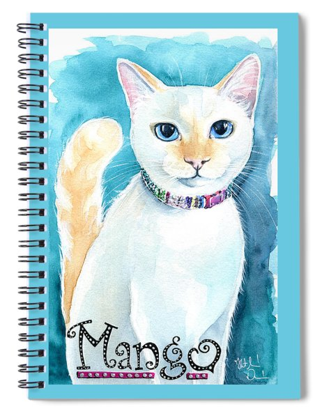 Mango - Flame Point Siamese Cat Painting Spiral Notebook