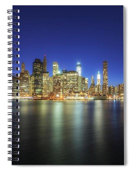 Manhattan Nite Lites Nyc Spiral Notebook