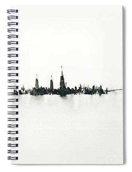 Manhattan Silhouette Spiral Notebook