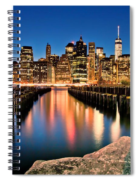 Manhattan Skyline At Dusk Spiral Notebook