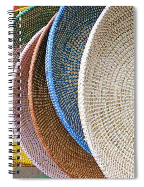 Manhattan Wicker Spiral Notebook