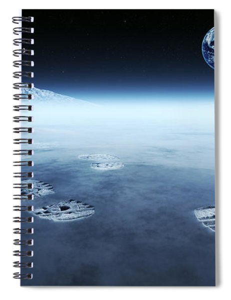 Mankind Exploring Space Spiral Notebook