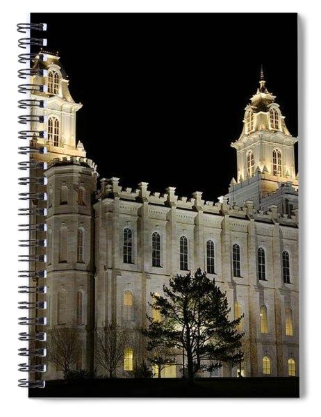 Manti Temple Night Spiral Notebook