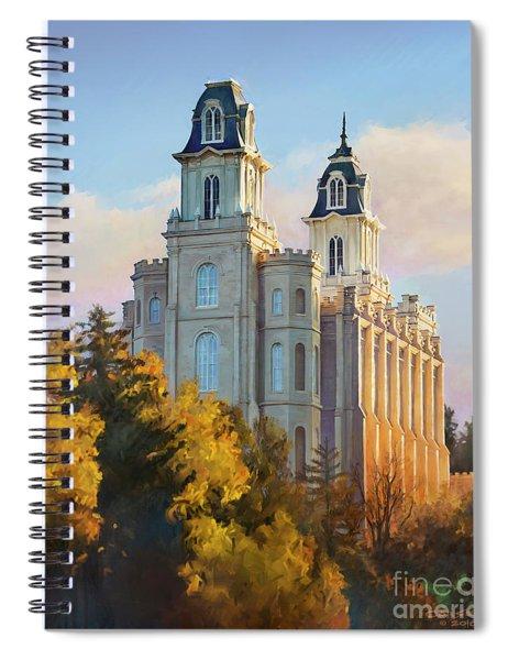 Manti Temple Tall Spiral Notebook