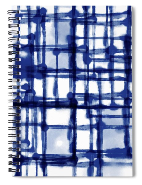Mantra In Blue- Art By Linda Woods Spiral Notebook