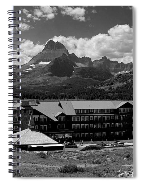 Many Glaciers Hotel  Spiral Notebook
