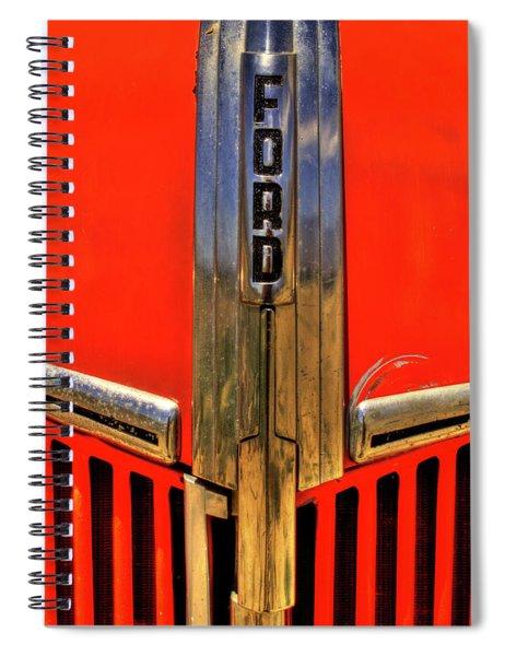 Manzanar Fire Truck Hood And Grill Detail Spiral Notebook