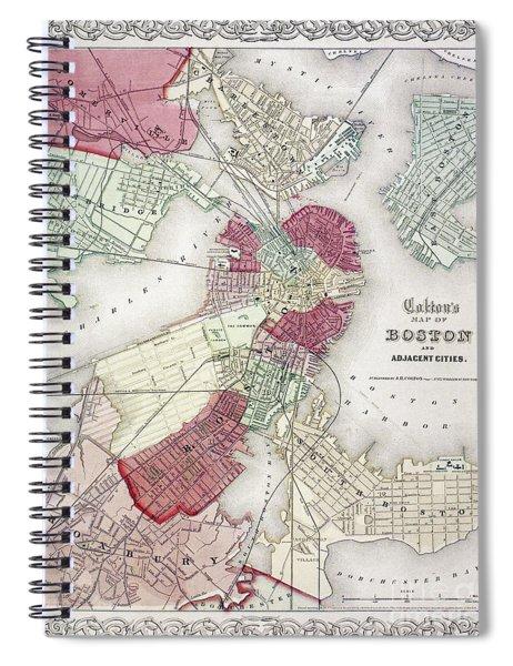 Map: Boston, 1865 Spiral Notebook