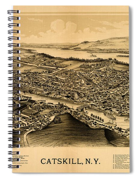 Map Of Catskill 1889 Spiral Notebook