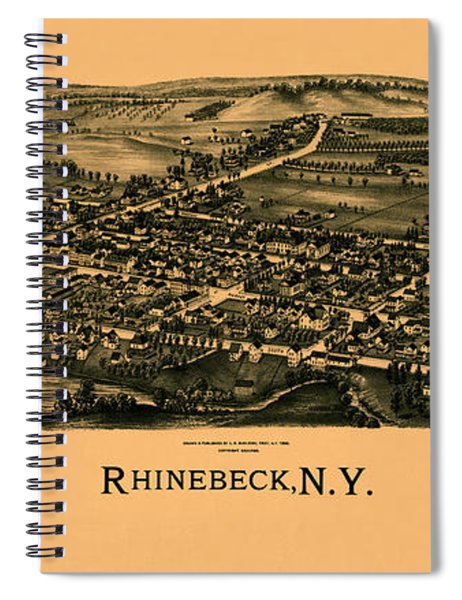 Map Of Rhinebeck 1890 Spiral Notebook