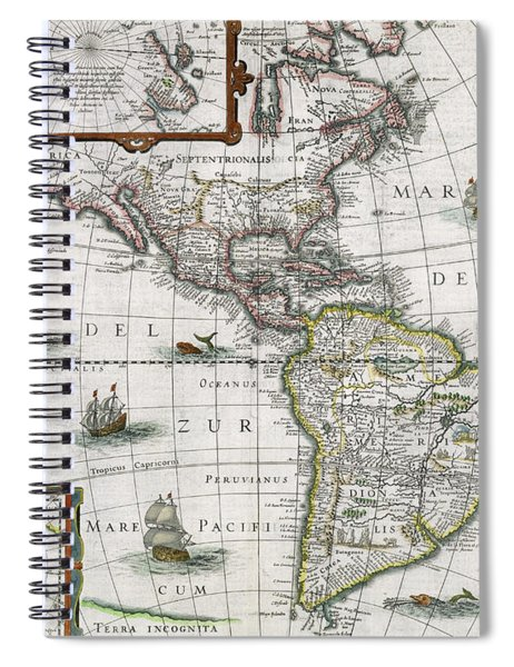 Map Of The Americas Spiral Notebook