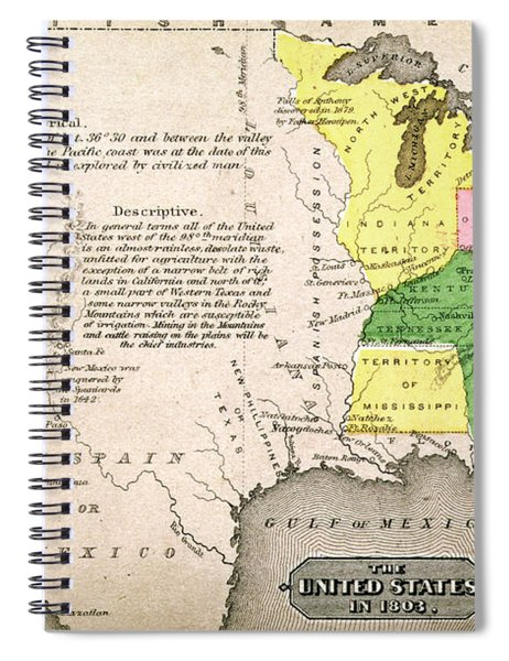 Map Of The United States Spiral Notebook