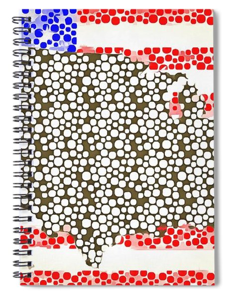 Map Of The United States Of America Pop Art Spiral Notebook