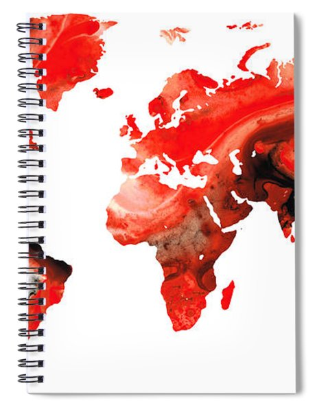 Map Of The World 10 -colorful Abstract Art Spiral Notebook