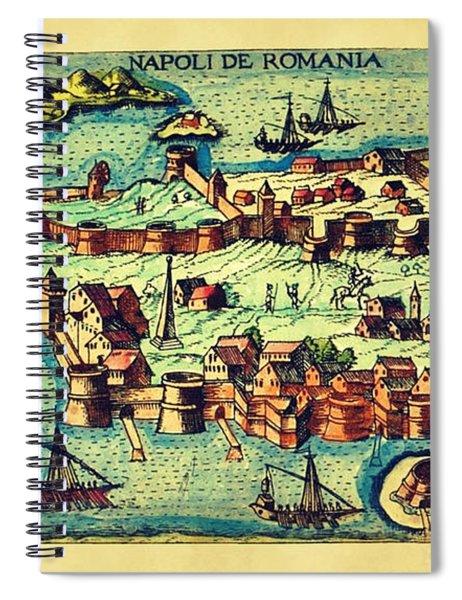 Map Seaport Spiral Notebook