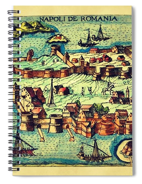 Map Seaport Spiral Notebook