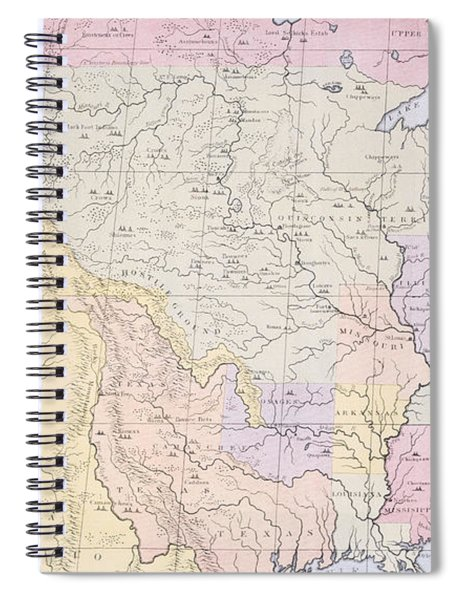 Map Showing The Localities Of The Indian Tribes Of The Us In 1833 Spiral Notebook