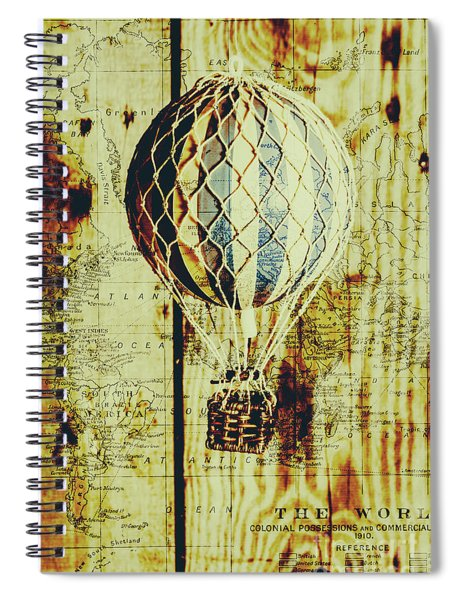 Mapping A Hot Air Balloon Spiral Notebook