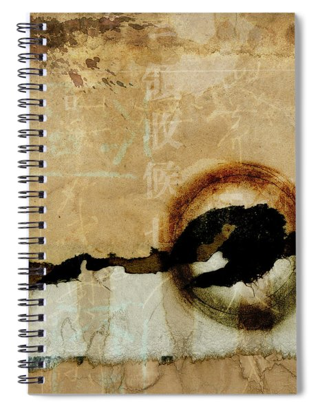 Mapping The Mountains Mixed Media Spiral Notebook