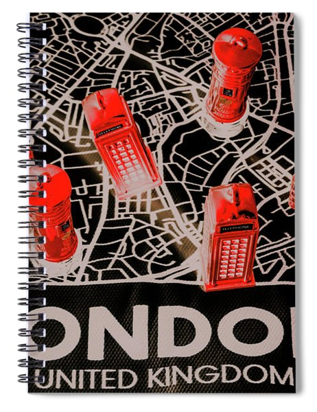 Maps From London Town Spiral Notebook