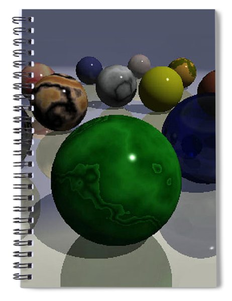 Marbles Spiral Notebook