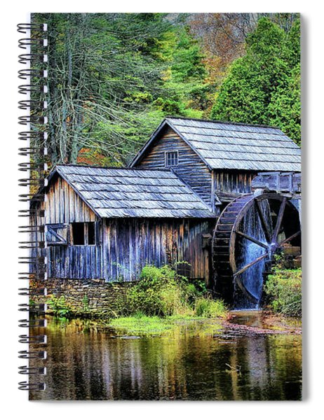 Mabry Mill A Blue Ridge Parkway Favorite Spiral Notebook
