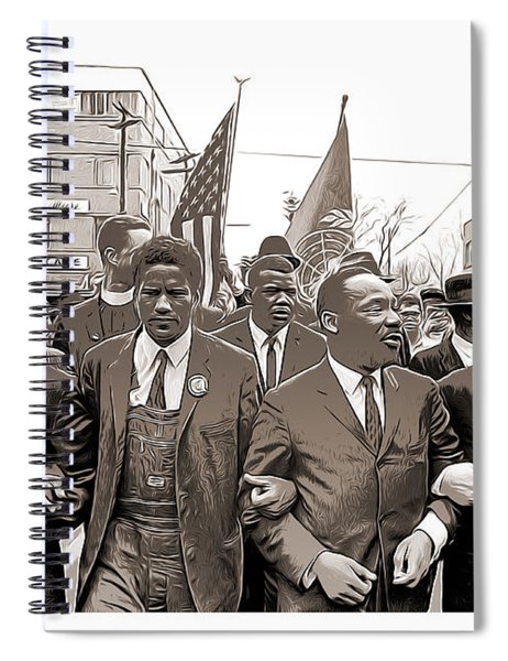 March Through Selma Spiral Notebook