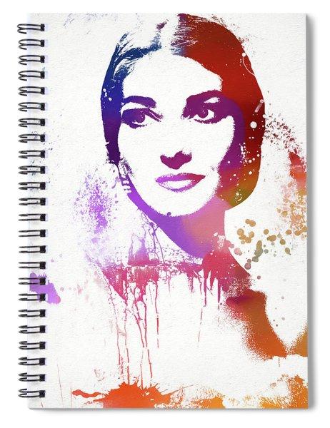 Maria Callas Paint Splatter Spiral Notebook