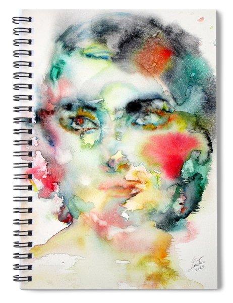 Maria Callas - Watercolor Portrait.3 Spiral Notebook