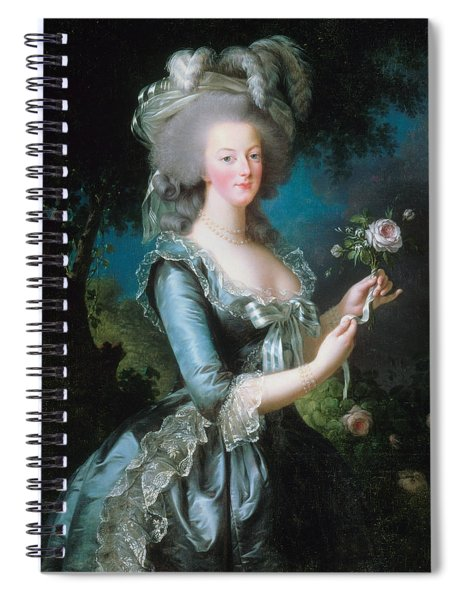 Marie-antoinette With The Rose Spiral Notebook