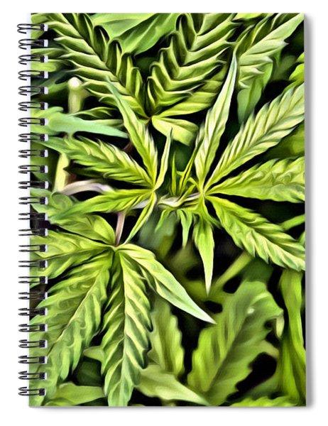 Marijuana Green Spiral Notebook