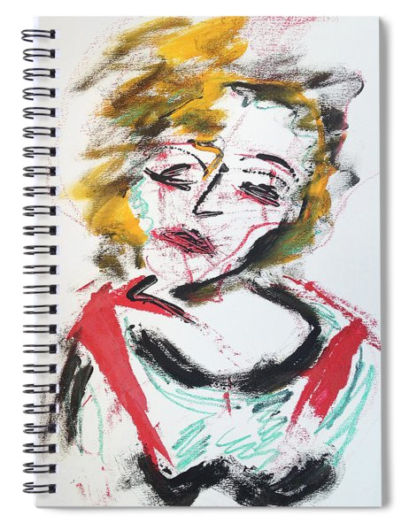 Marilyn Abstract Spiral Notebook