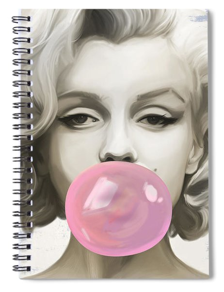 Marilyn Bubbles Spiral Notebook