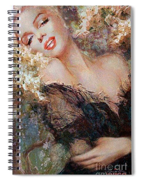 Marilyn Cherry Blossom Spiral Notebook