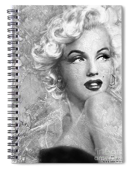 Marilyn Danella Ice Bw Spiral Notebook