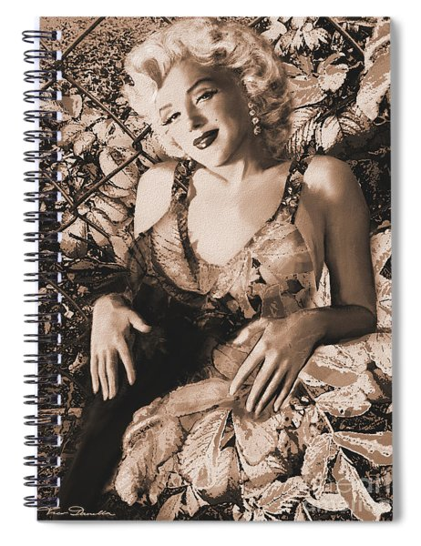 Marilyn Monroe 126 A 'sepia' Spiral Notebook