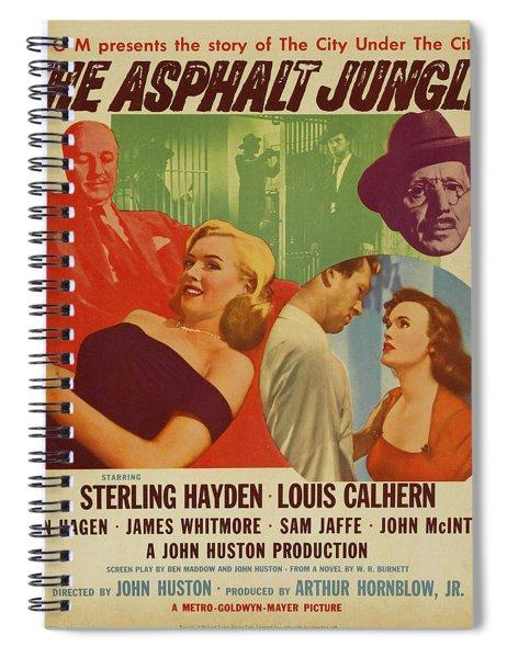 Marilyn Monroe In The Asphalt Jungle Movie Poster Spiral Notebook