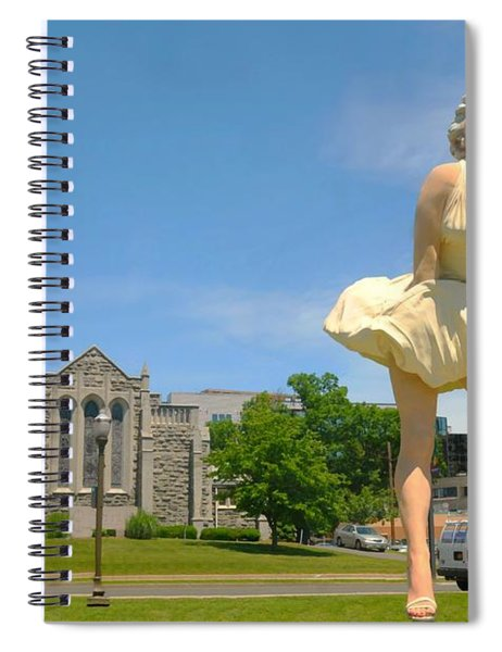Marilyn On Bedford  Spiral Notebook