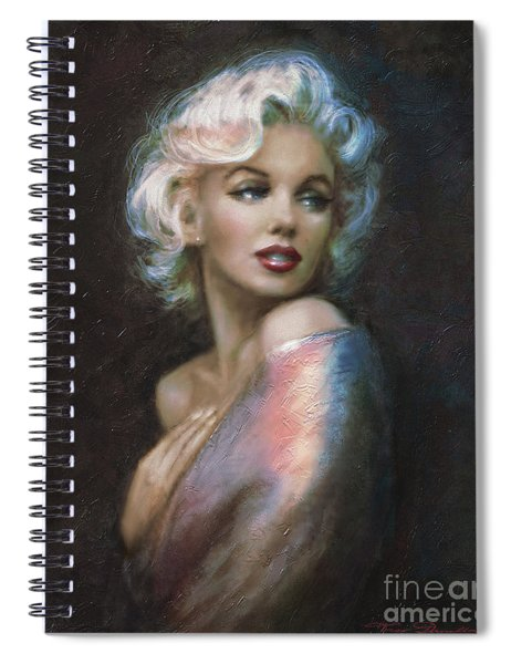 Marilyn Romantic Ww 4 Blue Spiral Notebook