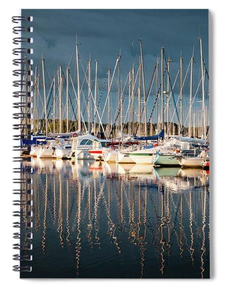 Marina Sunset 4 Spiral Notebook