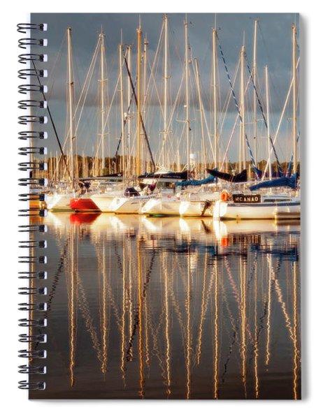 Marina Sunset 6 Spiral Notebook
