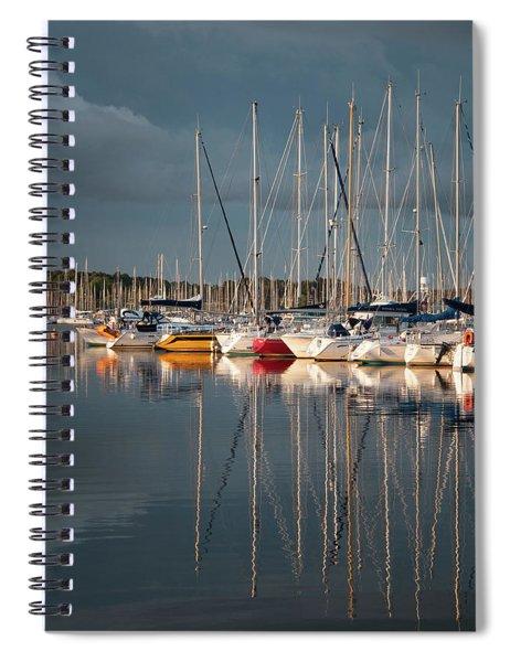 Marina Sunset 8 Spiral Notebook