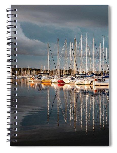 Marina Sunset 9 Spiral Notebook