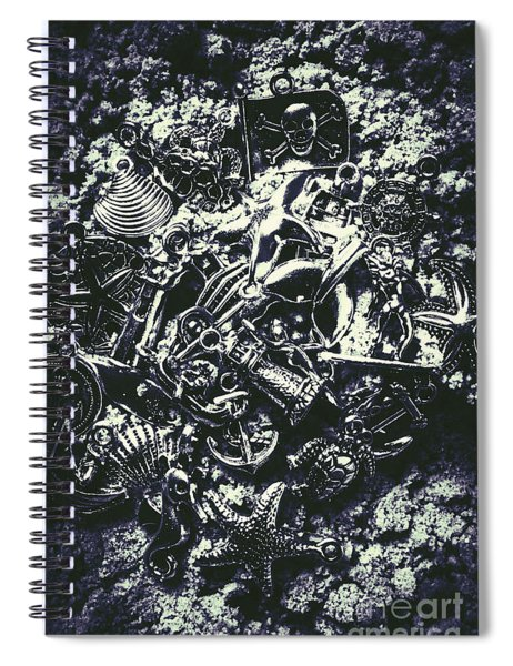 Marine Elemental Abstraction Spiral Notebook