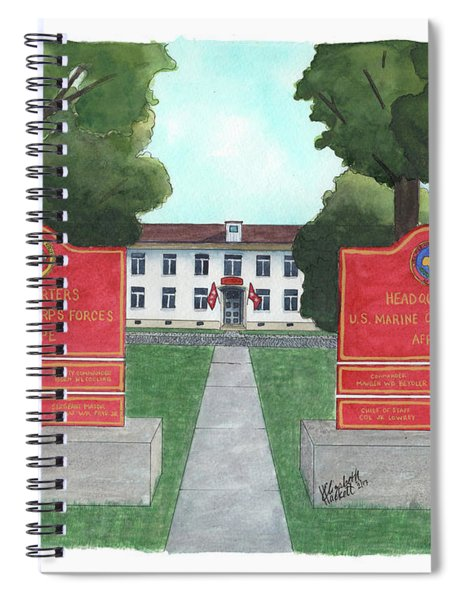 Marine Forces Europe And Marine Forces Africa Spiral Notebook