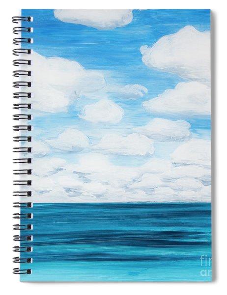 Marine Layer Breaking Up Spiral Notebook