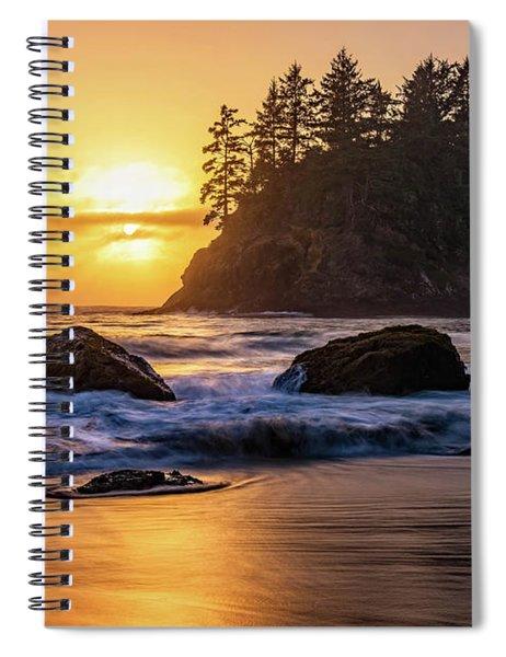 Marine Layer Sunset At Trinidad, California Spiral Notebook