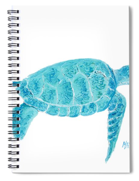 Marine Turtle Painting On White Spiral Notebook